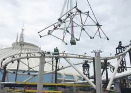 First Canopy Segment Installed on TRON Lightcycle / Run at Magic Kingdom