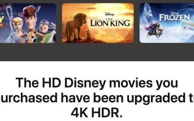 Disney Movies Now Available on Apple TV in 4K HDR
