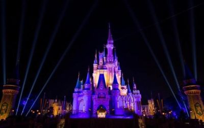 Cinderella Castle Lights Up in Purple and Gold to Celebrate Lakers' NBA Championship