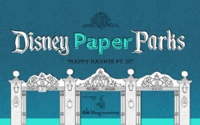 Haunted Mansion Portrait Chamber, Building Exterior Added to Disney Paper Parks: Happy Haunts Edition