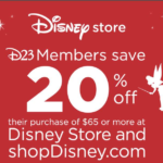 D23 Members Can Save 20% on shopDisney Through October 31st