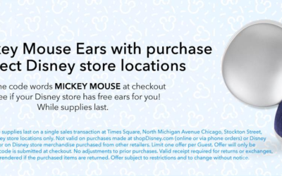 Disney Store Offering Free Mouse Ears With Purchase at Select Locations