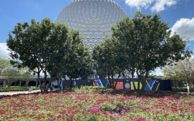Photo Update: New Colors and Signage at EPCOT Main Entrance