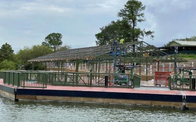Construction Photo Update: New Views of Magic Kingdom Resort Launch Dock and Grand Floridian Walkway