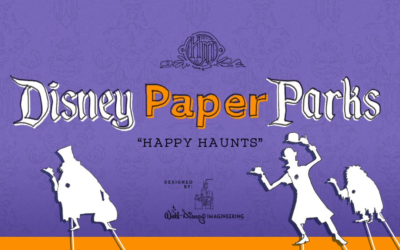 Make Your Own Disney Happy Haunts With The Latest of the Disney Paper Parks Series