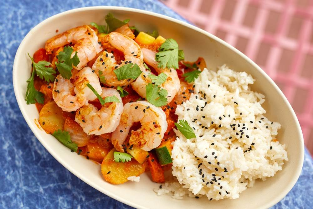 Curry Rice Bowl with Shrimp from ABC Commissary at Disney's Hollywood Studios