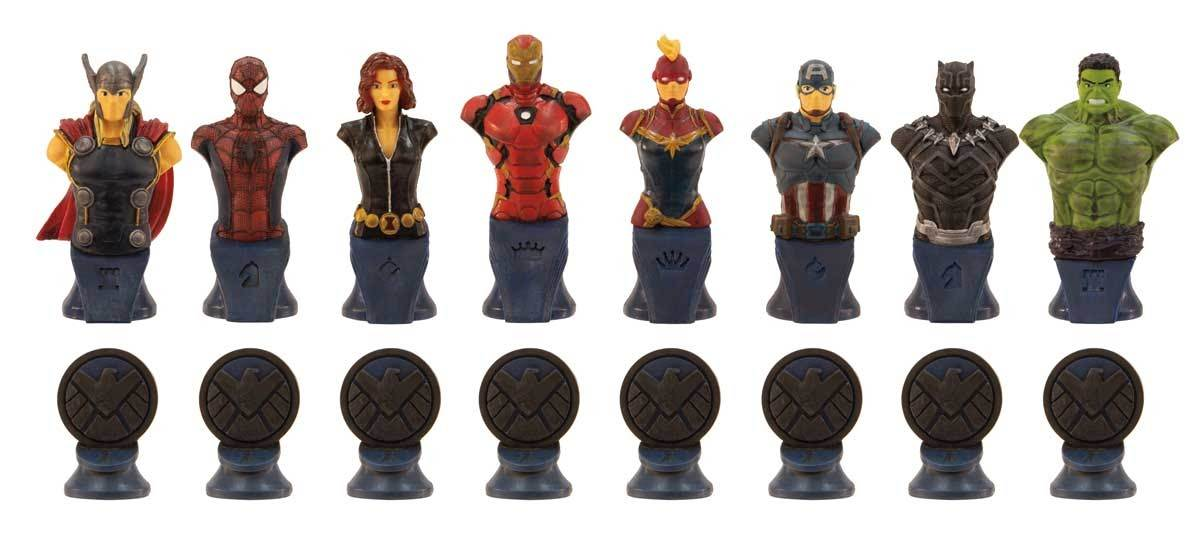 Marvel Chess Shield pieces