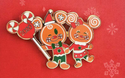 Sweet Gingerbread! Mickey and Minnie Holiday 2020 Pin Now Available on shopDisney