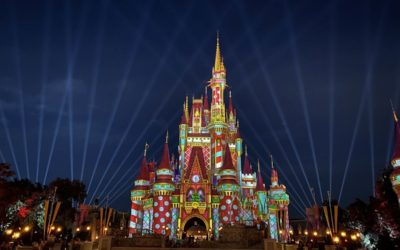 New Holiday Projections Light Up Cinderella Castle at Magic Kingdom