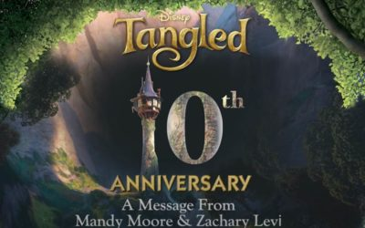 "Mandy Moore and Zachary Levi Celebrate 10th Anniversary of ""Tangled"""