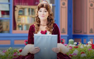 "Belle from ""Beauty and the Beast"" Reads a Holiday Story in New Disney Parks Video"
