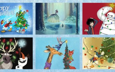 Walt Disney Animation Studios Release 6 Digital Holiday Cards from Talented Artists