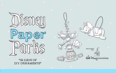 Disney Paper Parks Introduces Three Part Holiday Series With Ornament and Wrapping Paper Crafts