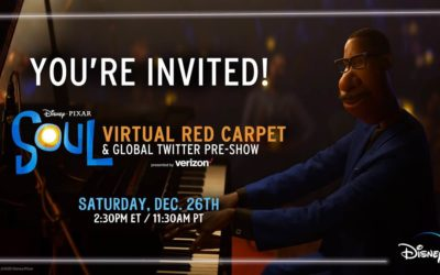 "Disney-Pixar to Host Virtual Red Carpet for ""Soul"" on December 26"