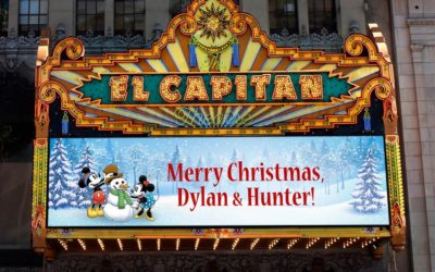 El Capitan Theatre Expands Marquee Messages Program with Winter and Holiday Scenes