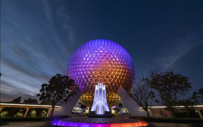 EPCOT Entrance Fountain Revealed as Construction Walls Are Taken Down