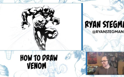 """Marvel and """"King in Black"""" Artist Ryan Stegman Gives Virtual Lesson on How to Draw Venom"""