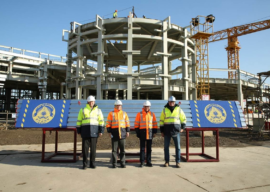 Shanghai Disneyland Celebrates the Structure Topping for Zootopia Land's Main Attraction