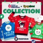 "Tipsy Elves Commemorates ""25 Days of Christmas"" 2020 with Ugly Sweaters Featuring Freeform Mascots"