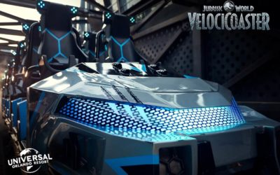 Universal Releases New Look at VelociCoaster Ride Vehicles