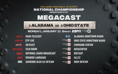 ESPN's College Football National Championship MegaCast Returns Monday