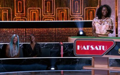 "Exclusive Clip: Olympic Athlete Hafsatu Kamara Gets Introduced on ABC's ""Card Sharks"""