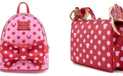 Rock the Dots With Loungefly's Pink and Red Minnie Mouse Bow Collection