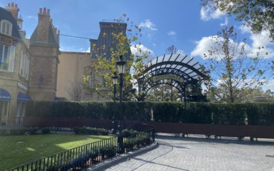 "Remy's Ratatouille Adventure Nearing Opening as ""Progress Walls"" Come Down Overnight in EPCOT's France Pavilion"