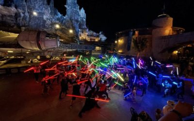 """""""Star Wars"""" Fans Come Together for a Lightsaber Meetup and Our First Look at Cal Kestis' Lightsaber at Galaxy's Edge"""