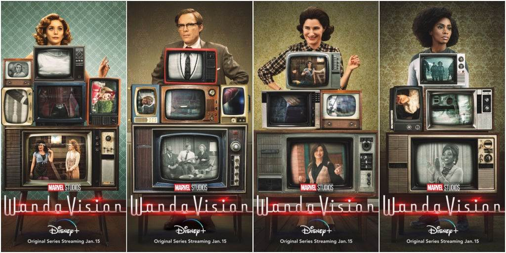 """Marvel Releases New """"WandaVision"""" Posters, Ad and Hashtag Images 2 Weeks  Ahead of Disney+ Premiere - LaughingPlace.com"""