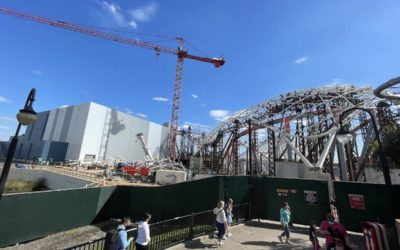 Canopy Grows as Progress Continues on Tron Lightcycle Run at Magic Kingdom