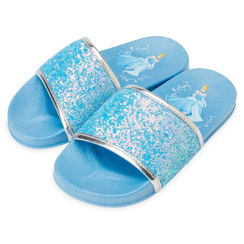 Cinderella slides for girls shopdisney Disney Kids Swimwear and Accessories Make a Splash on shopDisney 8211 Laughing Place