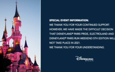 Disneyland Paris Cancels Pride, Electroland, and Run Weekend for 2021