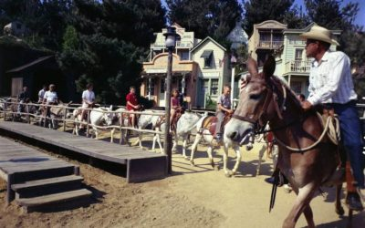 Extinct Attractions - Mule Pack, Conestoga Wagons, and Stagecoach