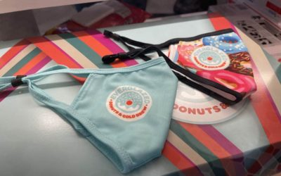 New Branded Face Masks and To-Go Boxes Appear at Everglazed Donuts and Cold Brew