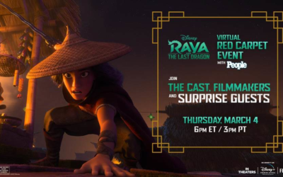 "Disney Will Host a Virtual Red Carpet Event for ""Raya and the Last Dragon"" on March 4"