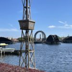 """The Third of the Four """"Harmonius"""" Barges Makes Its Way to World Showcase Lagoon at EPCOT"""