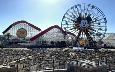 """Photos: Disney California Adventure's Paradise Bay Drained As Work Takes Place on """"World of Color"""" Infrastructure"""